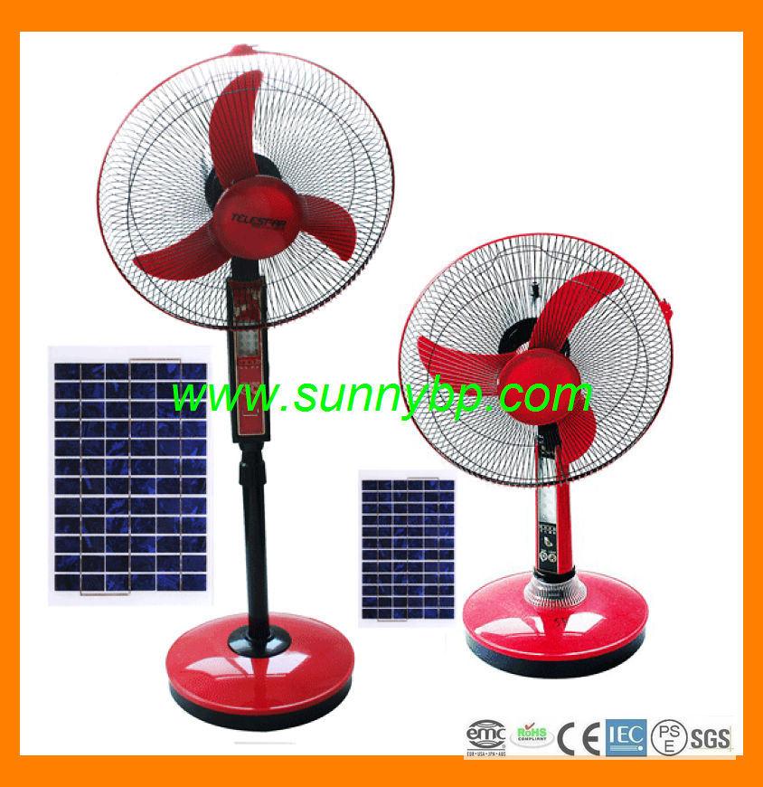 solaire oscillant ventilateur sur pied avec lumi re led. Black Bedroom Furniture Sets. Home Design Ideas
