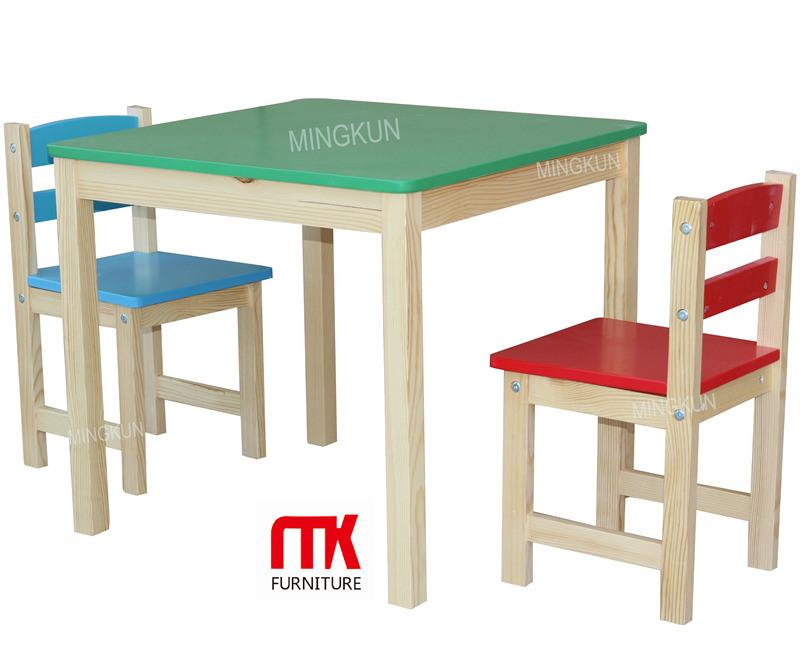 Mesa y sillas de eco amigo s lido de madera de pino ni os - Mesa y sillas para ninos de madera ...