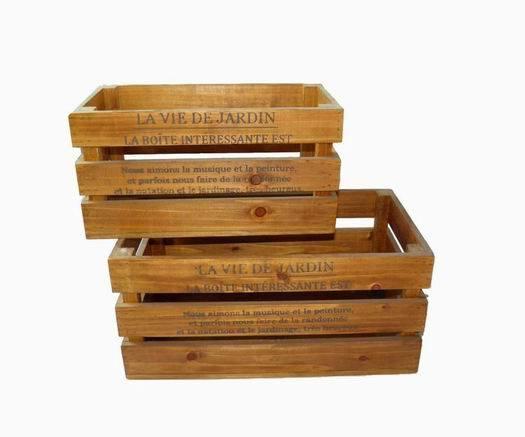 Caisse En Bois Vintage : Vintage Wooden Crate Planter