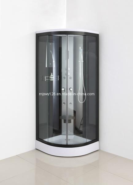 Doccia prefabbricata della stanza da bagno di colore nero - Prezzo bagno prefabbricato ...
