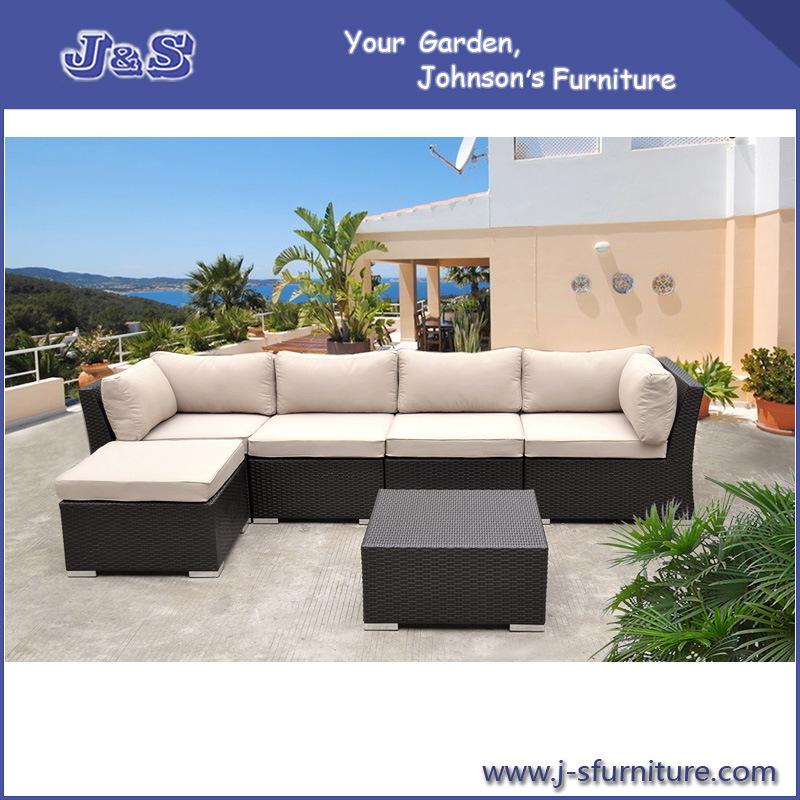 Jard n al aire libre de mimbre rattan sofa set seccional for Muebles de mimbre para jardin