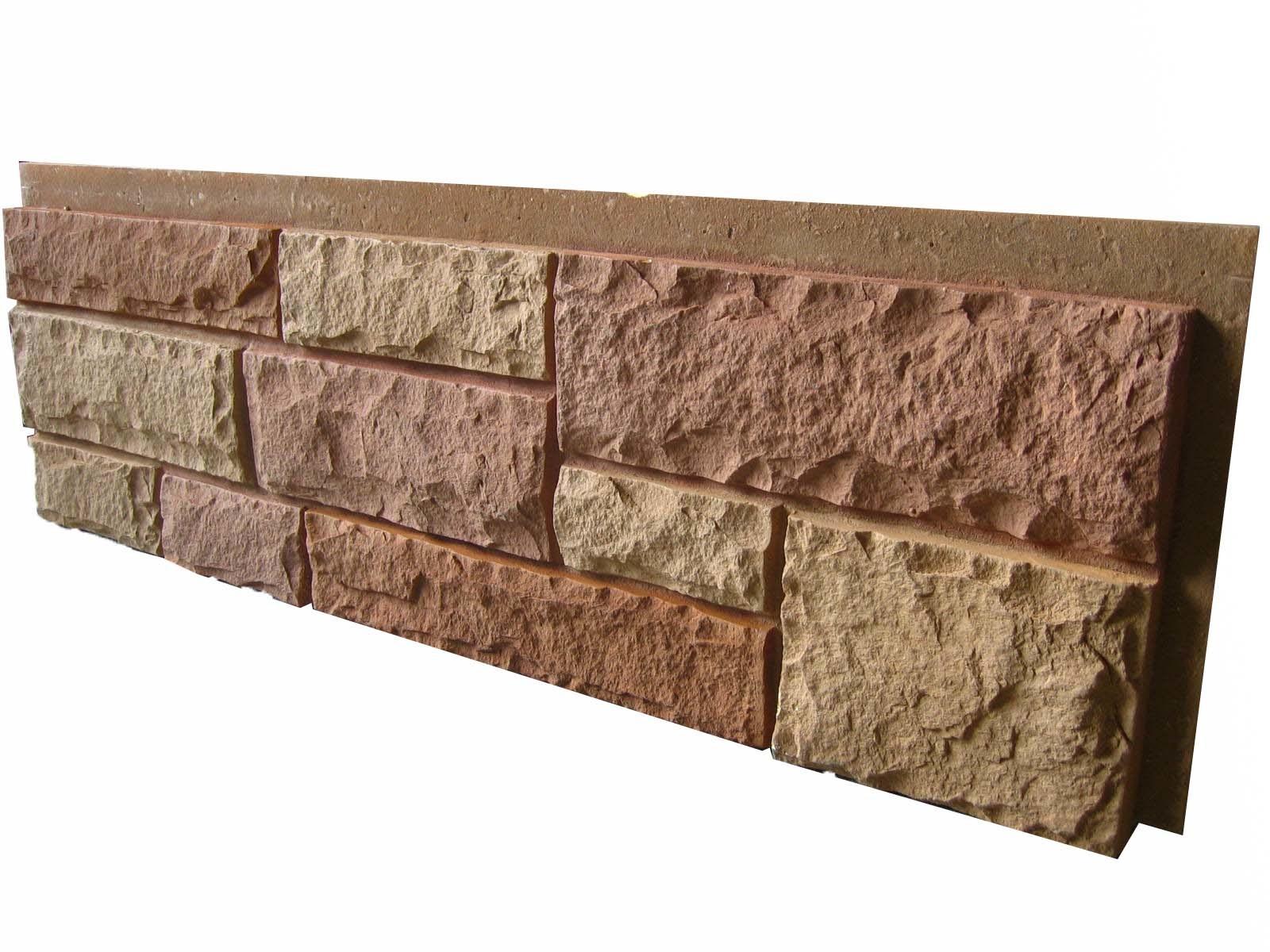 Gordijngevel van de steen van de steen pu van de lei de ...