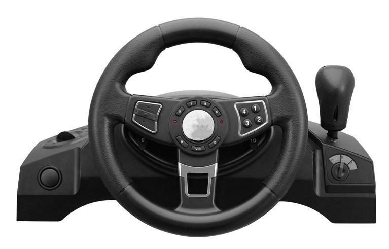 volant visuel de jeux de voiture avec la double vibration volant visuel de jeux de voiture avec. Black Bedroom Furniture Sets. Home Design Ideas