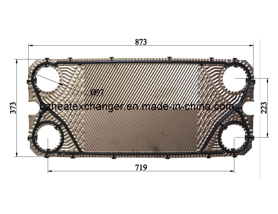 Placa de acero inoxidable y junta para el cambiador de - Placa de acero inoxidable ...