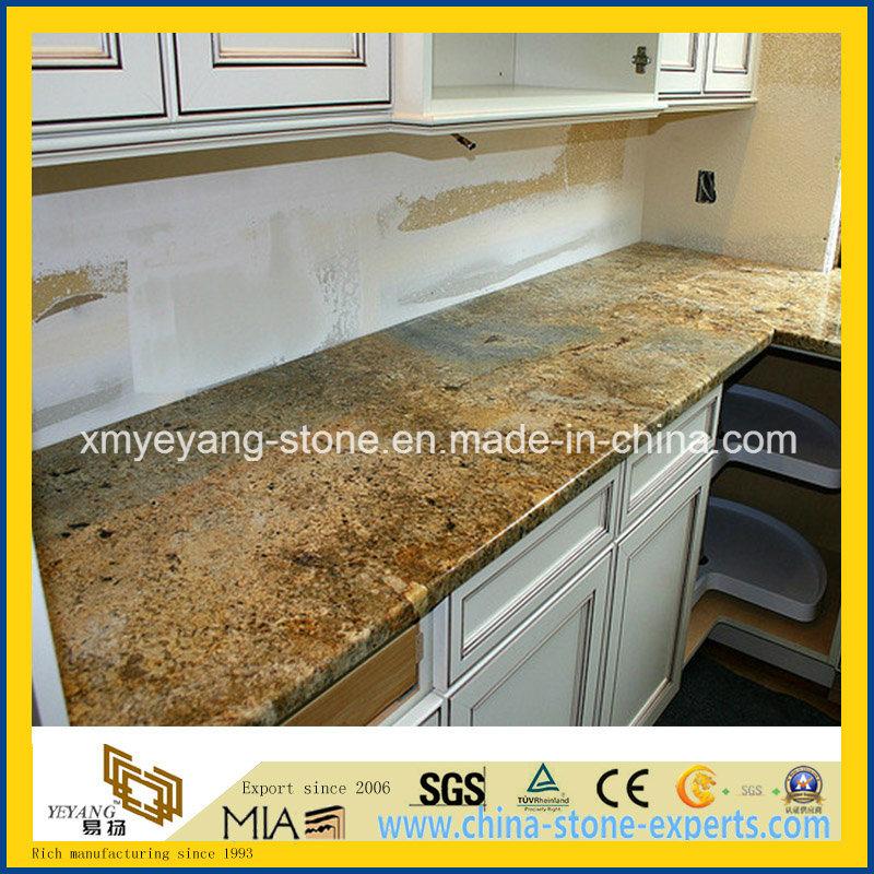 encimera de oro laminada de la cocina del granito de persa de la casa