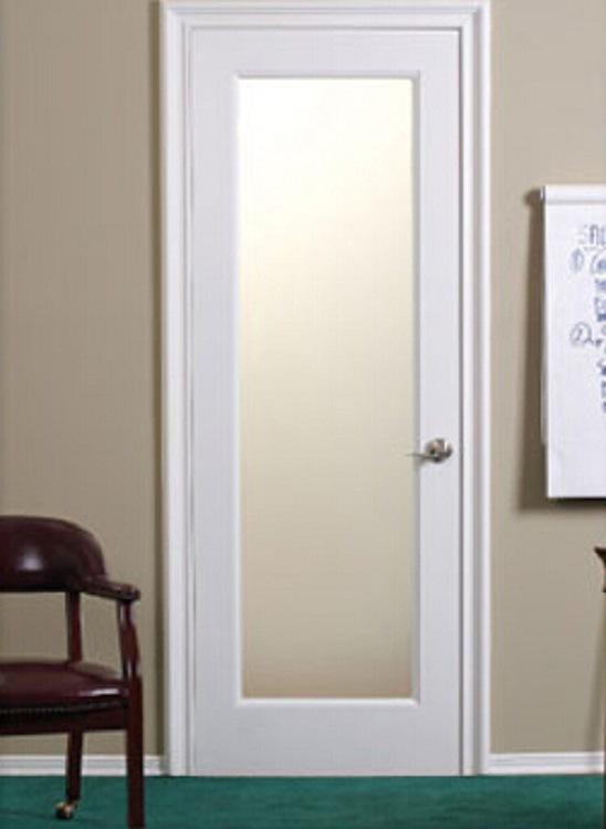 Puertas interiores con cristal puertas correderas espacio for Puerta blanca cristal
