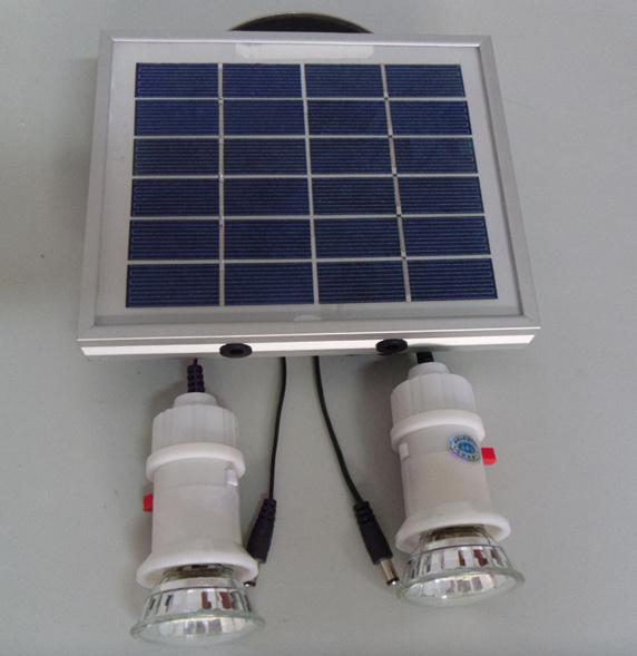 Kit solar de la iluminaci n de la emergencia led para el - Iluminacion led para el hogar ...