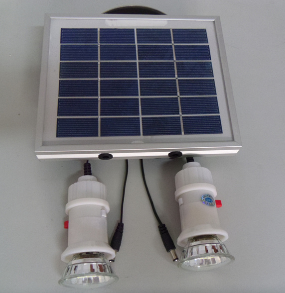 Kit solar de la iluminaci n de la emergencia led para el - Iluminacion por led hogar ...