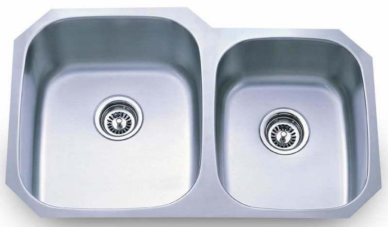 Wasbak Keuken Vierkant : Stainless Steel Double Sink