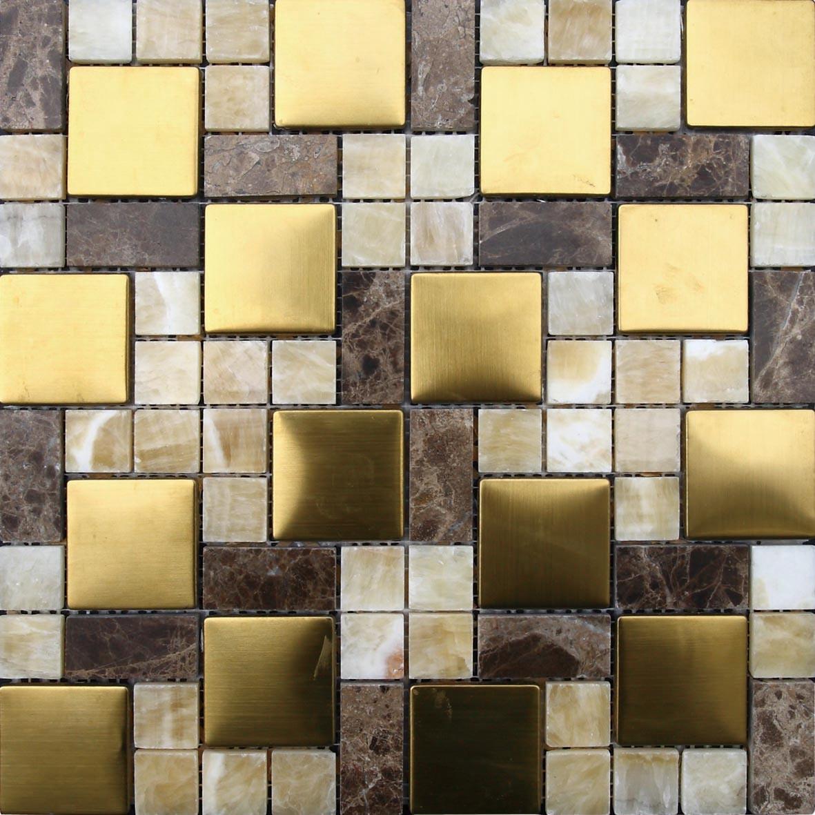 Grijs marmeren mozaïek naturel voor het plaatsen van tv muur en ...