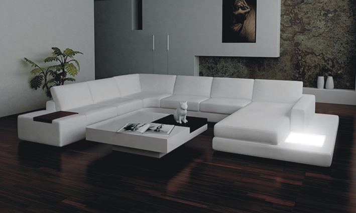 wohnzimmer couch leder:U-shaped Living Rooms with Sofas