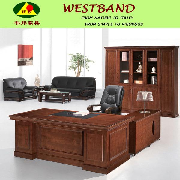 Modern solid escritorio de director madera mesa de - Modelos de escritorios de madera ...