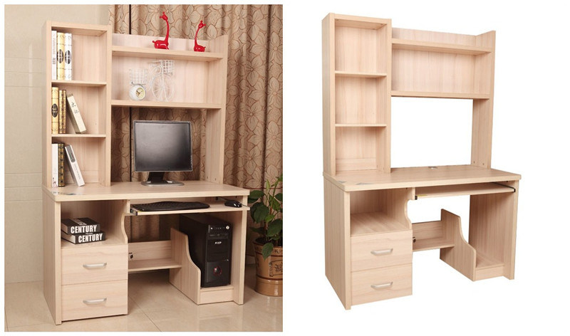 accueil bureau d 39 ordinateur avec tag re biblioth que. Black Bedroom Furniture Sets. Home Design Ideas