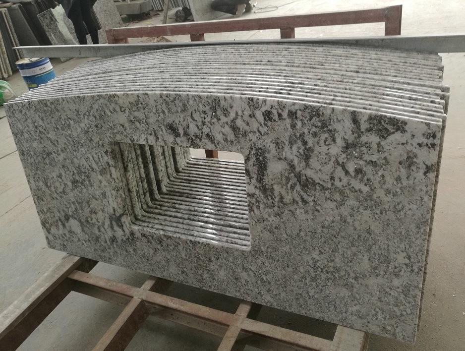 venta al por mayor prefab mesa de comedor encimera de cocina bianco antico blanco de granito