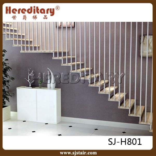 Foto de moderno varilla vertical barandilla de acero for Escaleras verticales