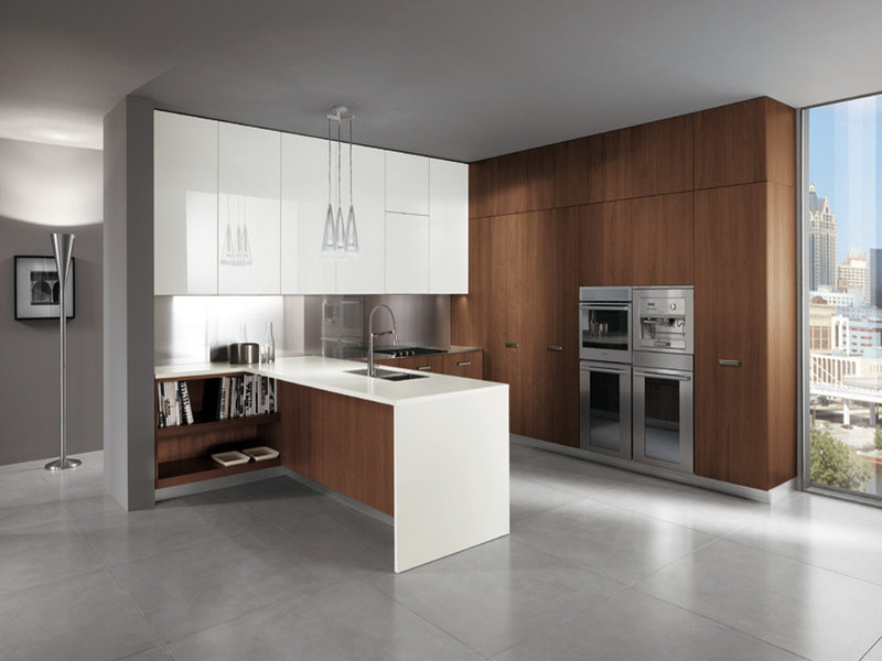 ISO Welbom White Lacquer Modular Kitchen Cabinet with Island에사진 kr.Made-in-China.com