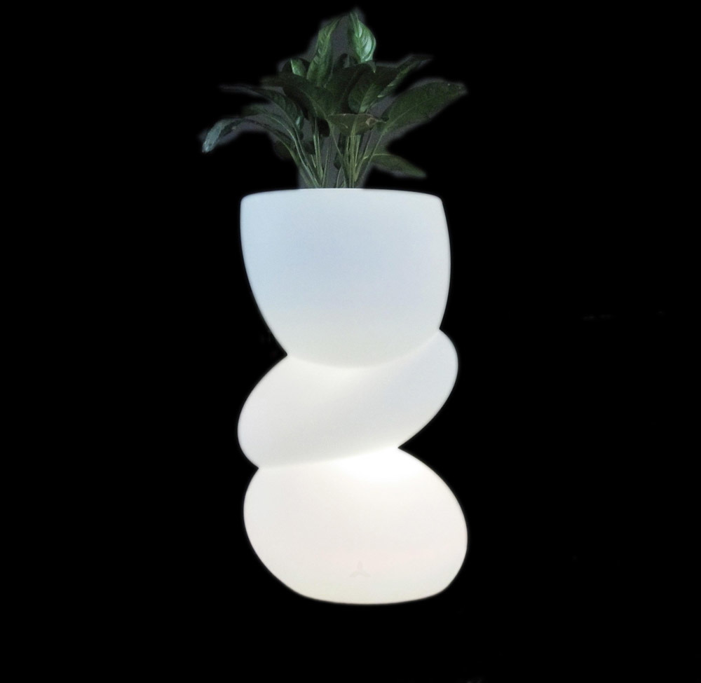 pot de fleur lumineux par plastique du jardin led lg 4740. Black Bedroom Furniture Sets. Home Design Ideas