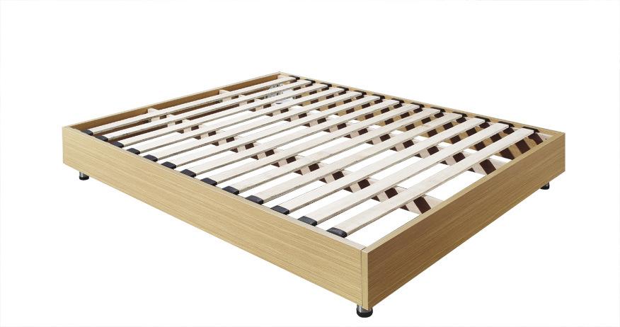De madeira bater para baixo a base da cama base do hotel for Base de cama