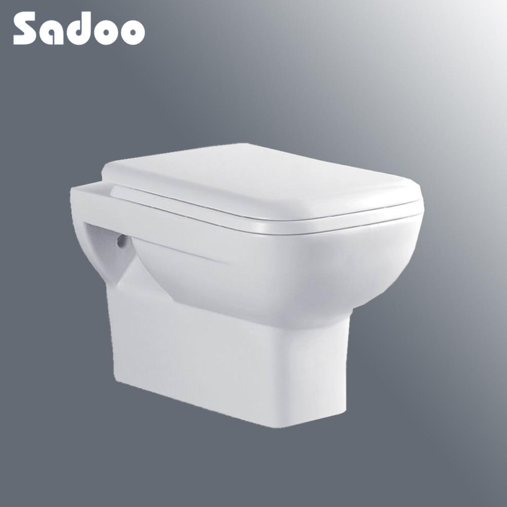 Cuarto de ba o blanco de la pared inodoro suspendido de for Inodoro pared