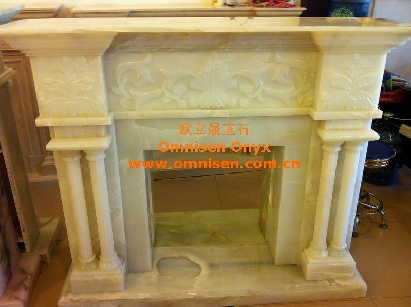 Chimenea blanca de la chimenea de piedra del m rmol de for Piedra marmol blanca