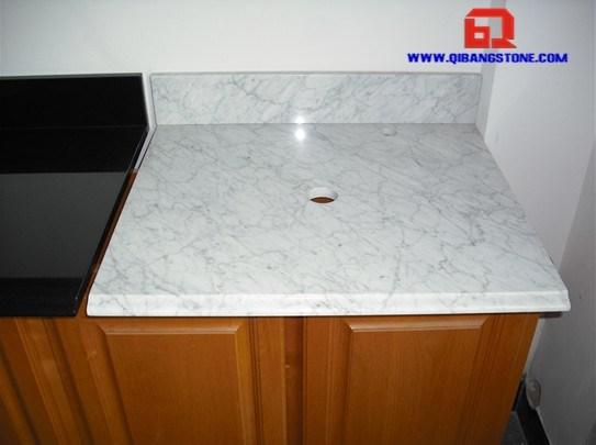 M rmol blanco tapa de la vanidad top ba o vessel m rmol for Marmol blanco real