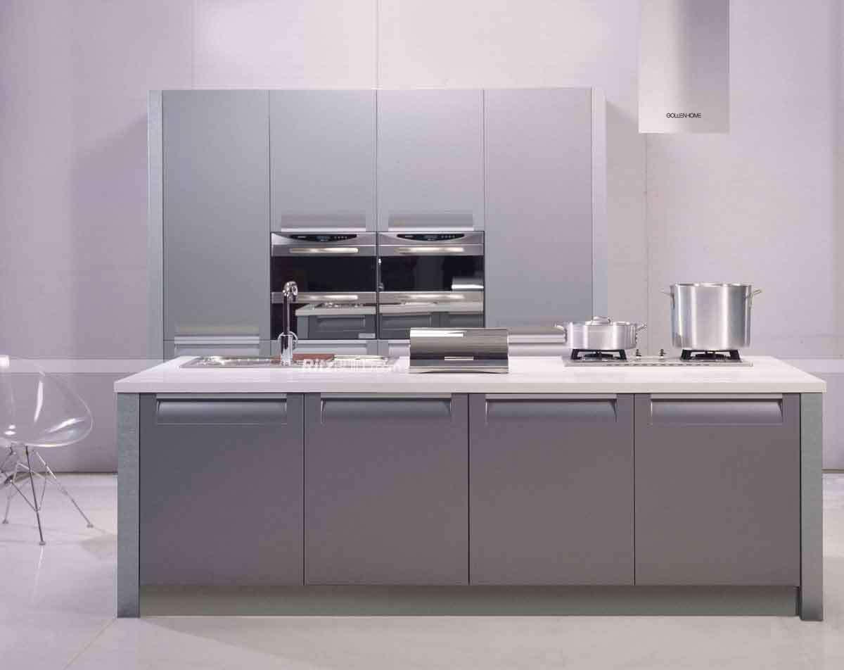 Het moderne Ontwerp van de Keukenkast van pvc van Duitsland voor ...