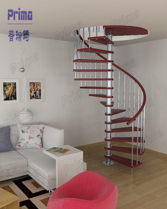 Escaleras de madera de roble escalera exterior escalera de caracol de hierro pr s54 escaleras - Escalera de caracol exterior ...