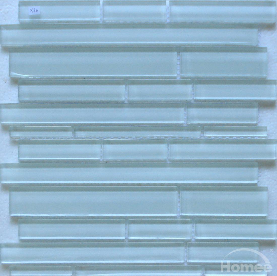 Mattonelle di mosaico di vetro multi size x30 - Piastrelle di vetro ...