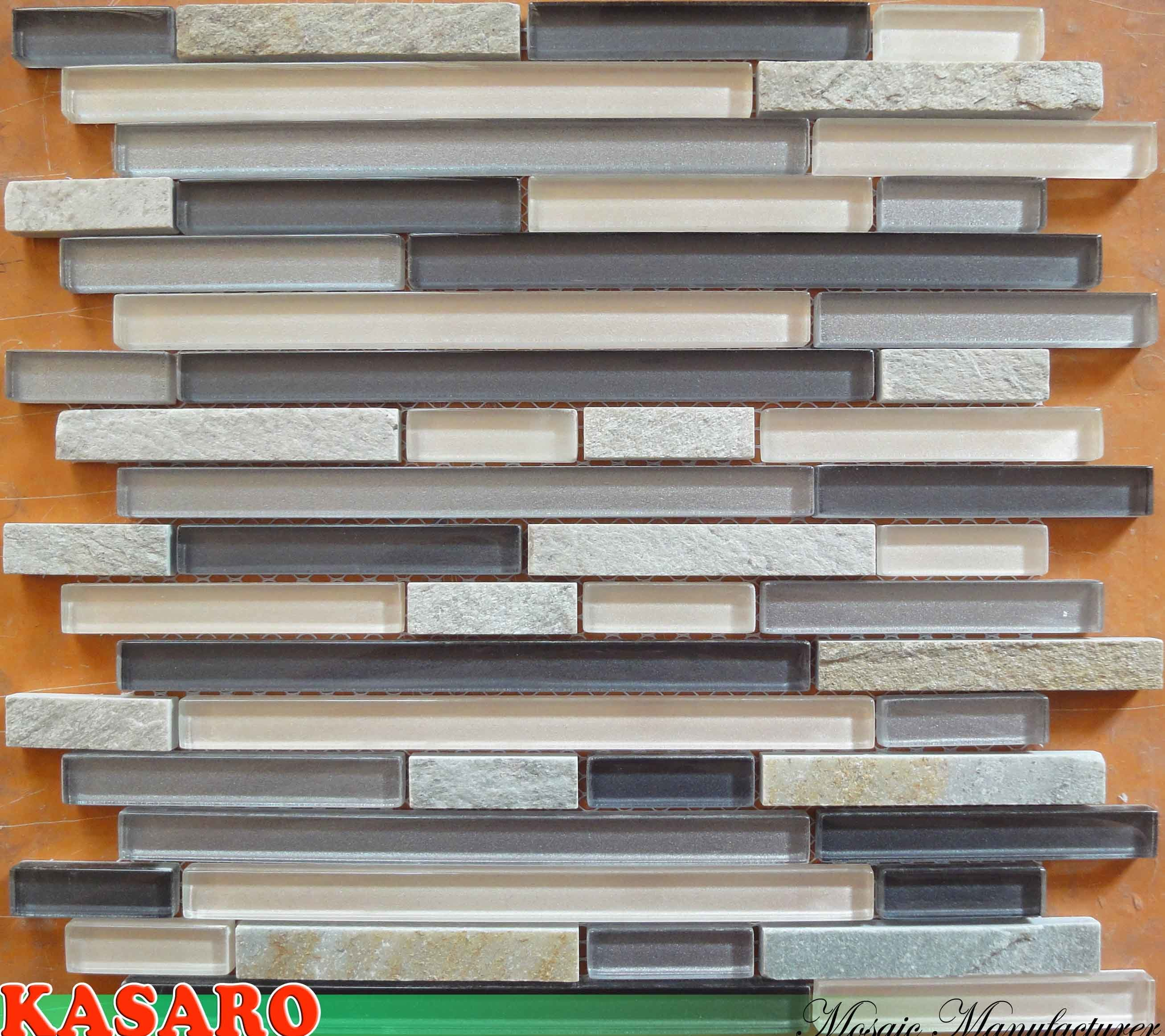 Azulejos Para Baño Mercado Libre:Azulejo de mosaico de piedra de cristal de la tira, azulejo de la
