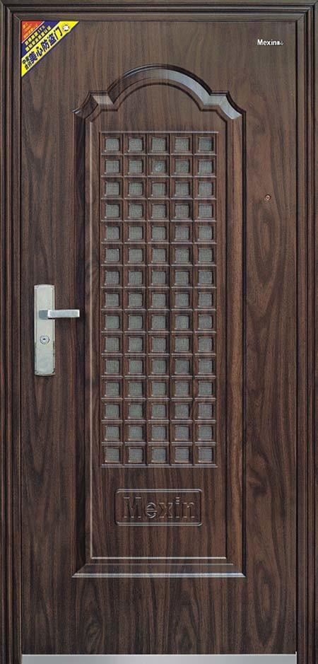 Puertas de entrada del metal de la pel cula del pvc for Puertas de metal con diseno