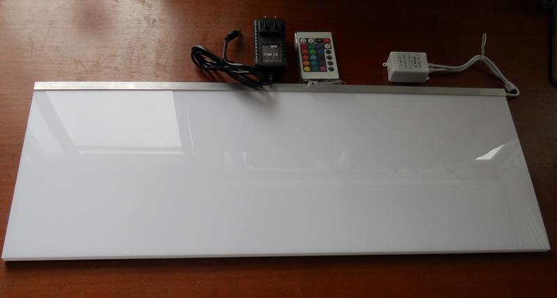 panneau acrylique d 39 clairage ext rieur blanc tag re. Black Bedroom Furniture Sets. Home Design Ideas