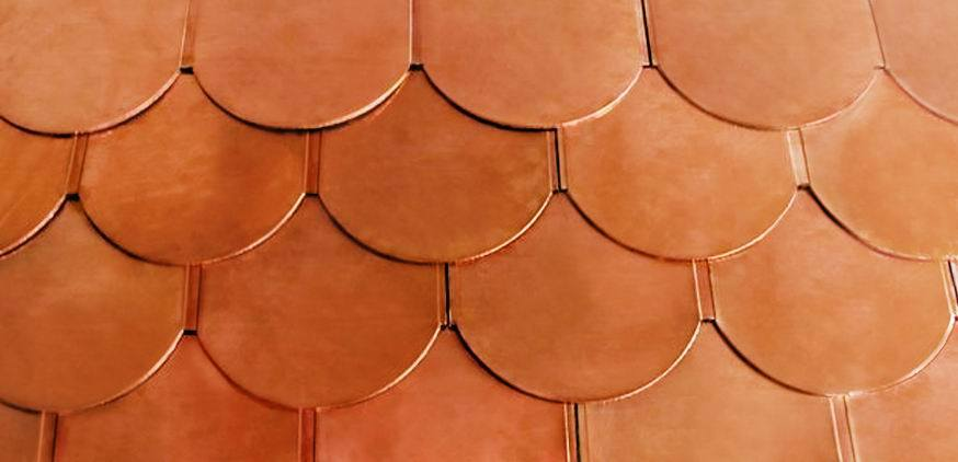 S rie de cuivre de tuile de toiture s rie de cuivre de for Feuille de cuivre toiture