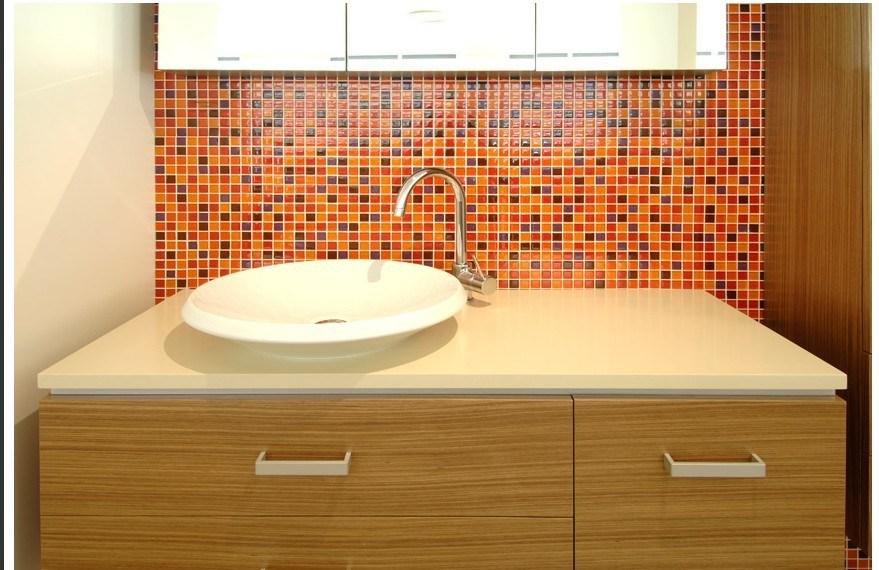 Mueble Baño Oriental:Mueble de cocina de mármol artificial de cristal chino fregadero