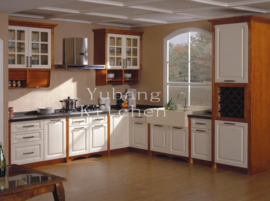 Gabinetes de cocina en madera y vidrio for Gabinetes de cocina modernos