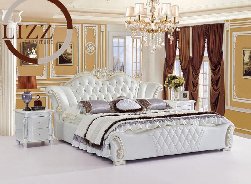 amerikanisches schlafzimmer leather bed a837 foto auf de.made-in, Schlafzimmer