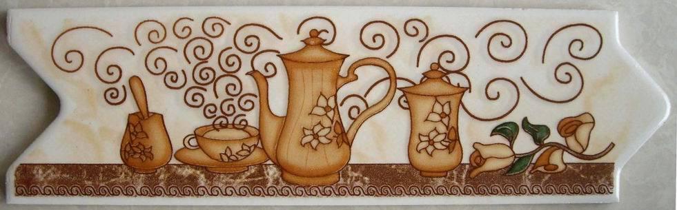 Telha cer mica decorativa da saia da cozinha telha for Ceramica decorativa pared