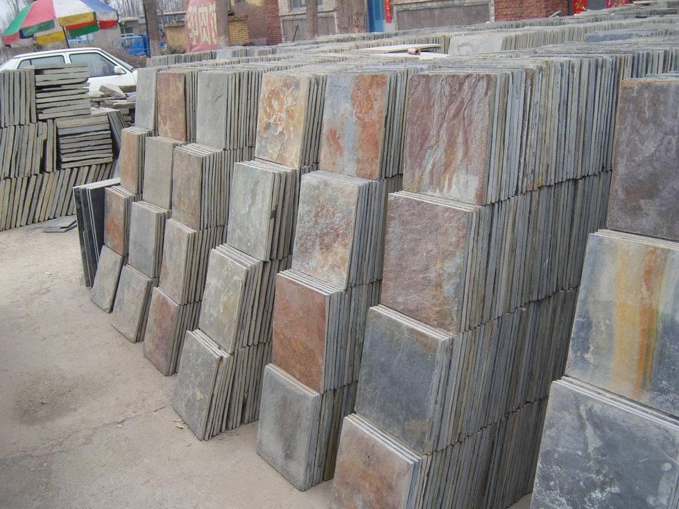 Azulejos de suelo oxidados naturales de la pizarra sss 94 azulejos de suelo oxidados - Azulejos suelo ...