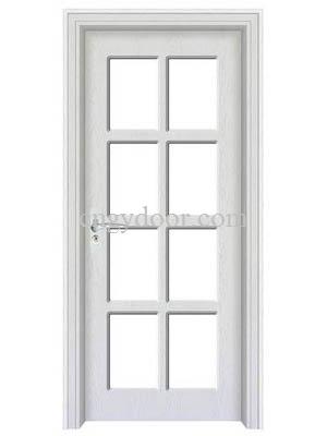 Puerta francesa del color blanco vidrio satinado for Precio de puertas francesas