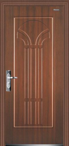 Puerta de securit de la entrada del metal de la pel cula for Puertas de entrada de metal