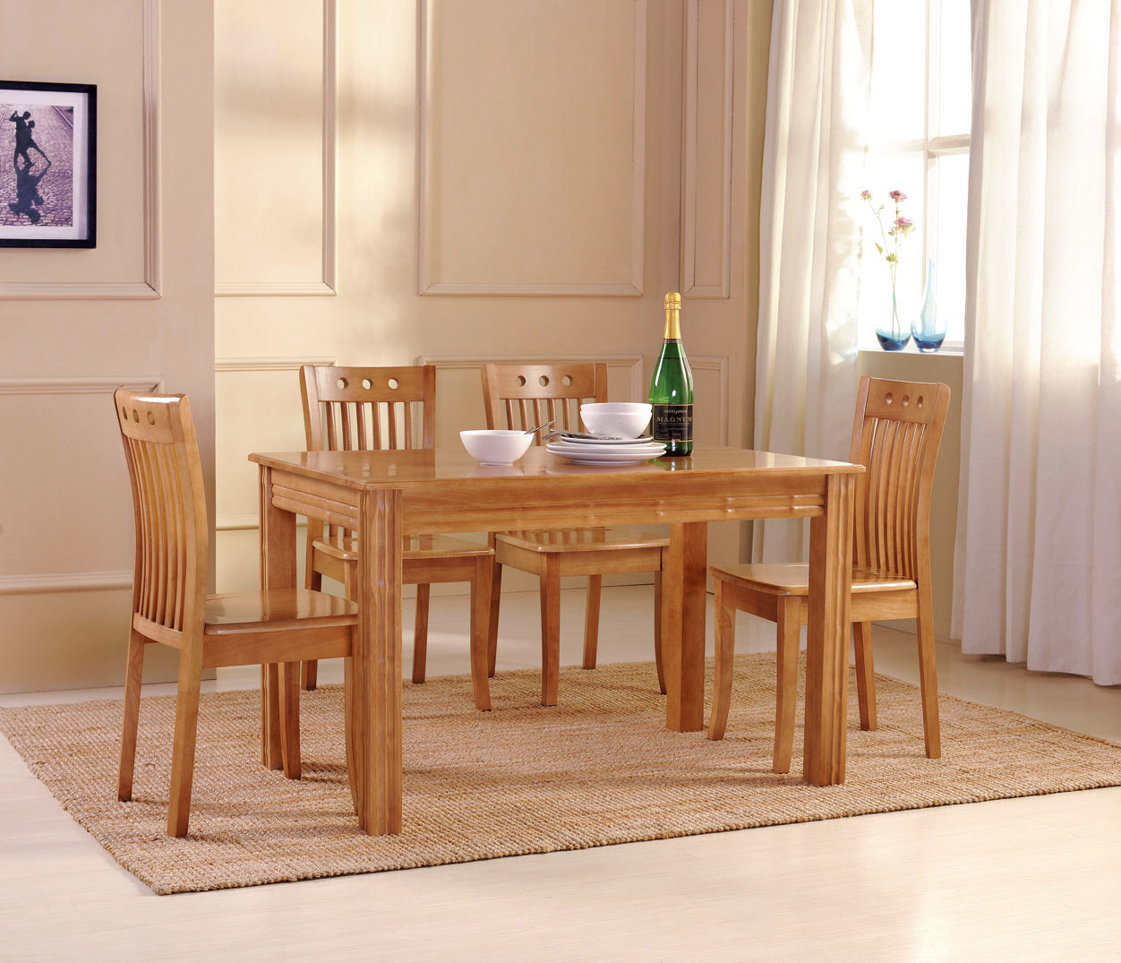 Tabla de cena silla muebles de madera muebles del for Table design sample