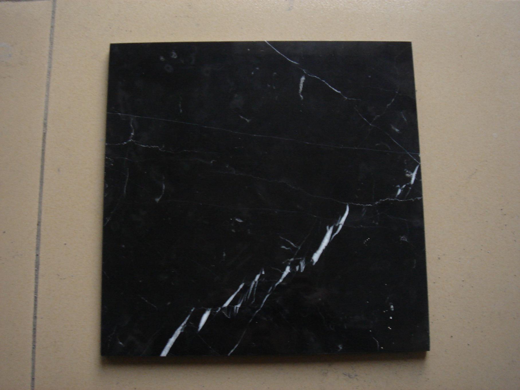 Marquina nero, Nero Marquina, mattonelle di marmo nere (RS--205 ...