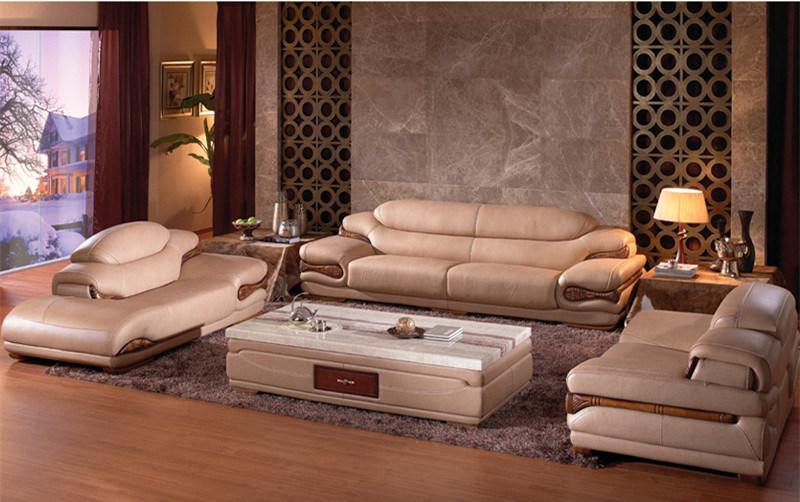Sof de cuero seccional de los muebles caseros modernos for Muebles de sala de cuero