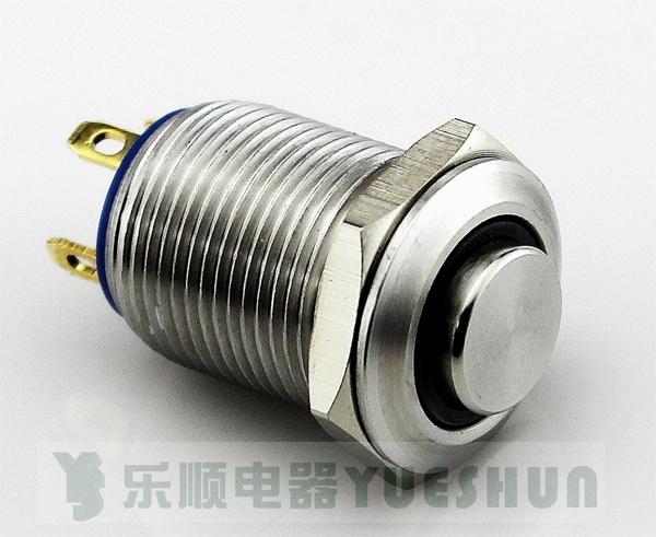 Commutateur de bouton poussoir lumineux par 12mm d 39 acier inoxydable commutateur de bouton - Bouton poussoir lumineux ...