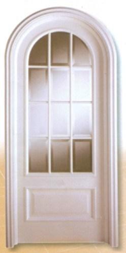 Puerta de madera s lida del arco puerta de madera s lida for Arcos de madera para puertas
