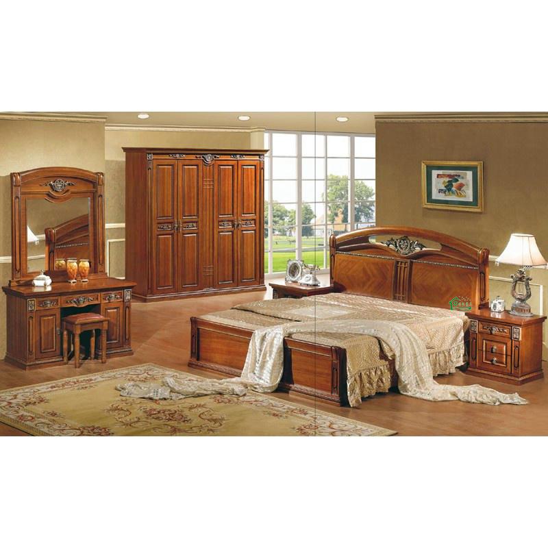 Het meubilair van de slaapkamer met het houten bed van 80 duim van de lengte yf m216 het - Planklengte van het kind ...
