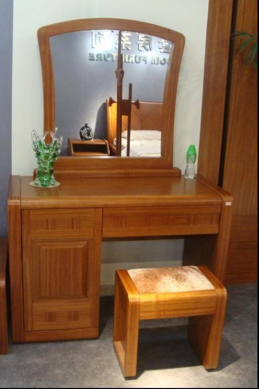 Solid wood dressing table and chair tf e02 tf d02 for Table th tf 00 02