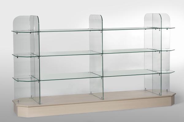 Estantes De Cristal Para Baño:Estante de cristal (KD-GD24-6) – Estante de cristal (KD-GD24-6