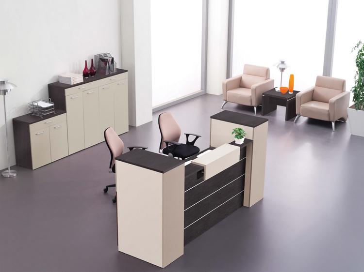 muebles de oficinas de madera del escritorio de recepci n
