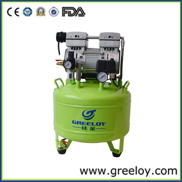 Compresor de aire silencioso dental del hp oilless de la for Compresor de aire silencioso