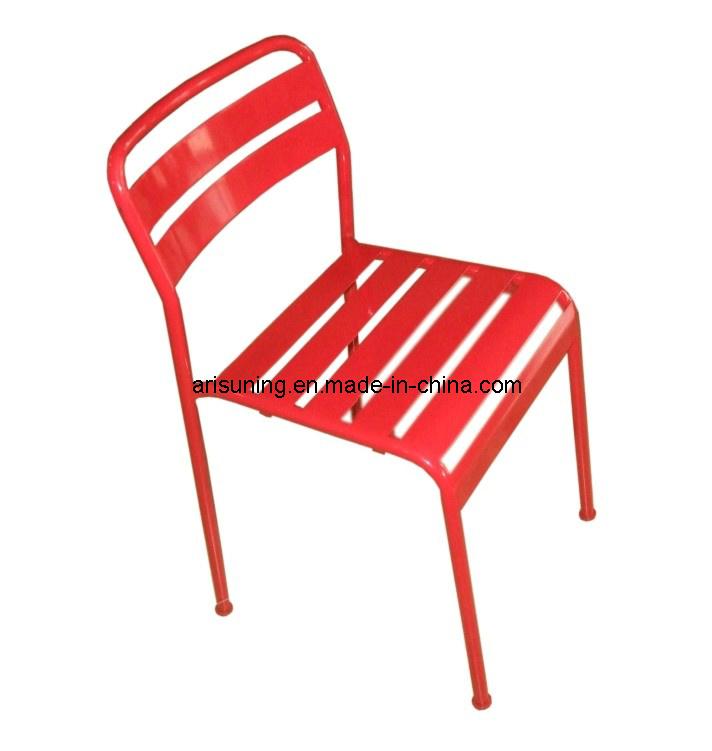 Chaise ext rieure empilable en m tal ext rieur de meubles for Meuble exterieur metal